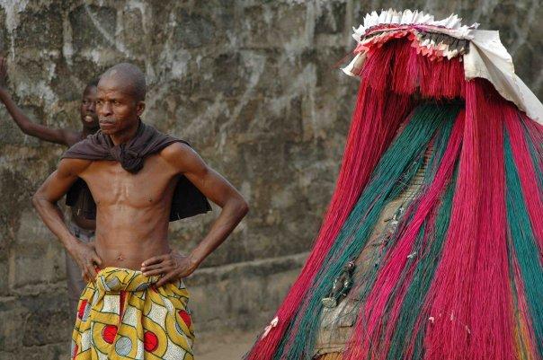 Zangbeto, Photograph by Timothy R. Landry (2011). Benin.