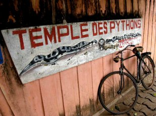 Le Temple des Pythons, Photograph by Timothy R. Landry. Benin.